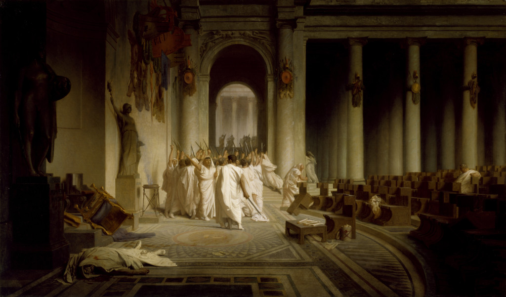 credit: The Death of Caesar, Jean-Léon Gérôme / Walters Art Museum