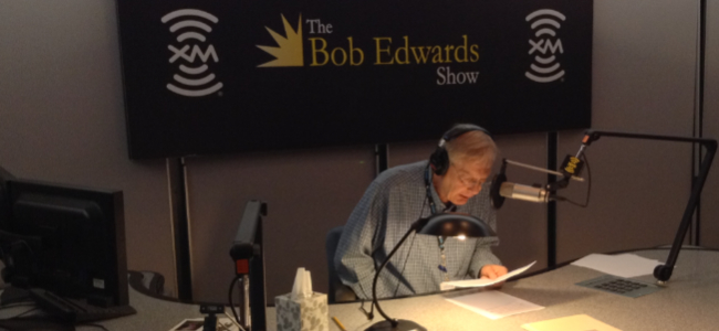 Bob Edwards in the studios of Sirius XM in Washington, DC