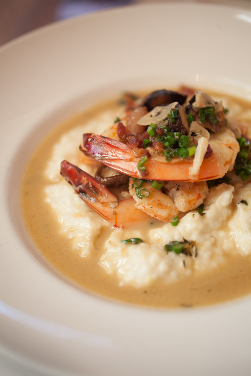 Shrimp & grits at La Petite Grocery. photo: Gregg Goldman