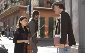 "Lucia Micarelli (""Annie""), Michiel Huisman (""Sonny""), and Tom McDermott in a scene from HBO's Treme."