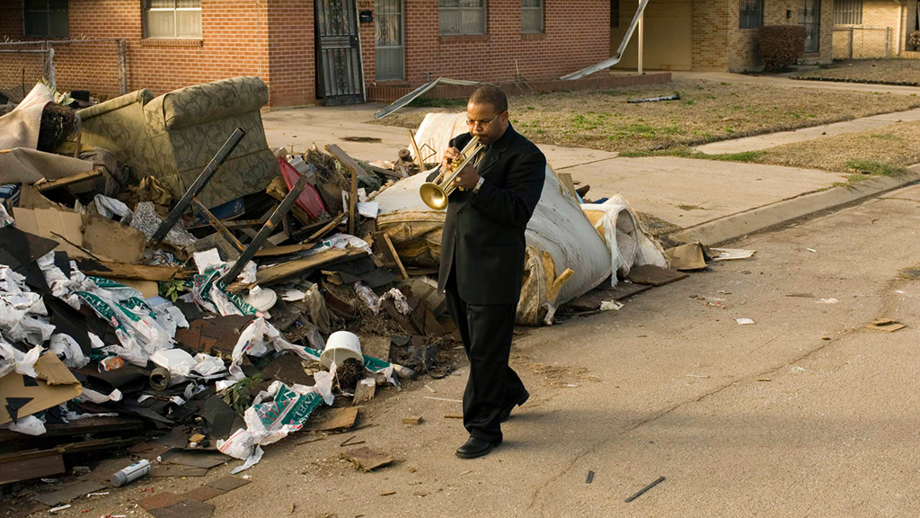 "Terence Blanchard in a still image from the HBO documentary ""When The Levees Broke"" by Spike Lee."