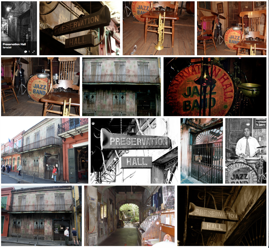 Photos of Preservation Hall