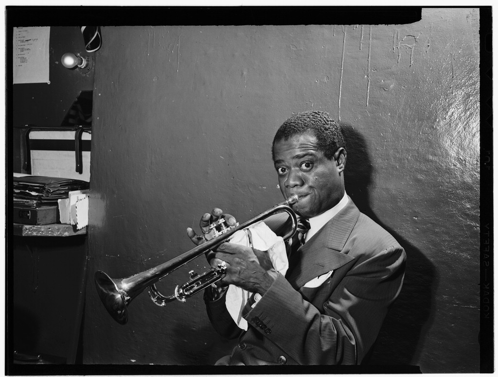 Louis Armstrong in 1946, William P. Gottlieb