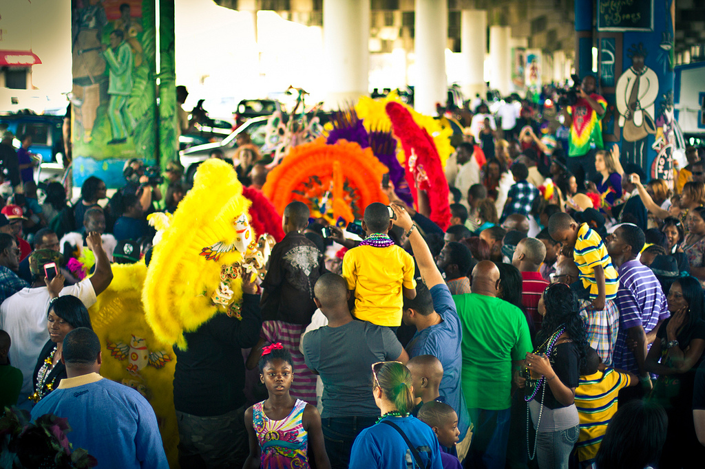 Mardi Gras Indians: Tribe Battle :: credit: smulligannn / Flickr