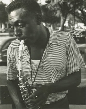 David Lastie on alto sax, 1953 (by Ralston Crawford; from Ralston Crawford Collection, William Hogan Jazz Archive, Tulane University)