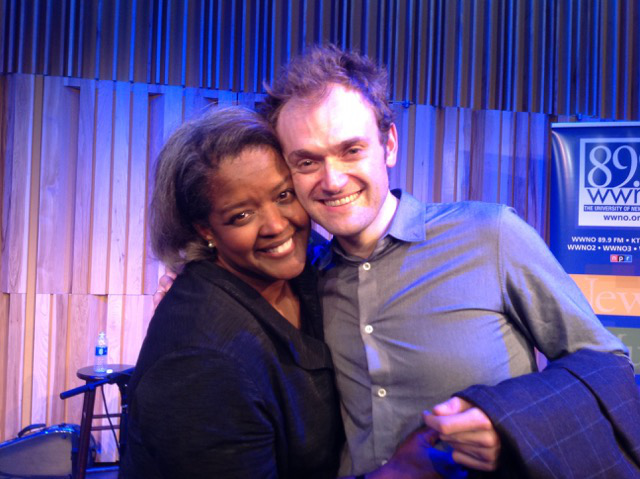 Chris Thile and Gwen Thompkins at the George and Joyce Wein Jazz & Heritage Center
