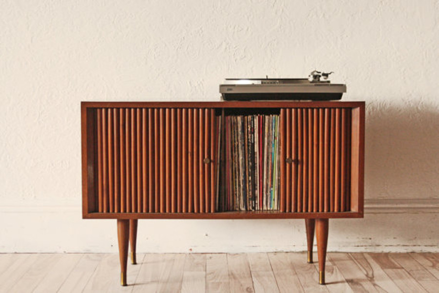 Mid-Century Modern Record Cabinet