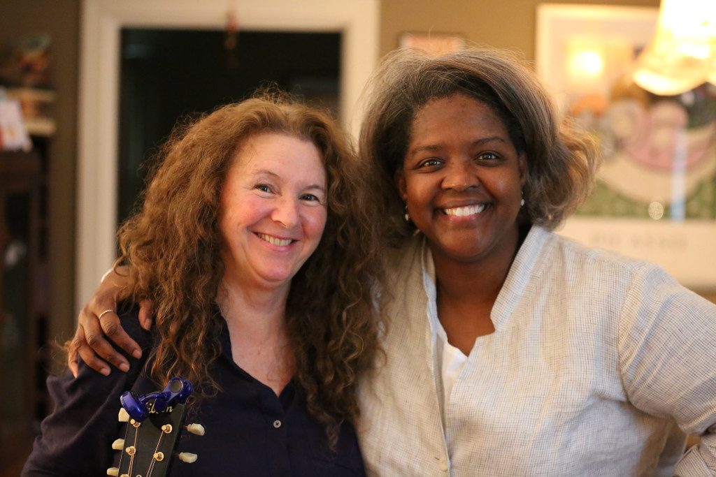 Gwen Thompkins and Tomi Lunsford at Tomi's home in Nashville