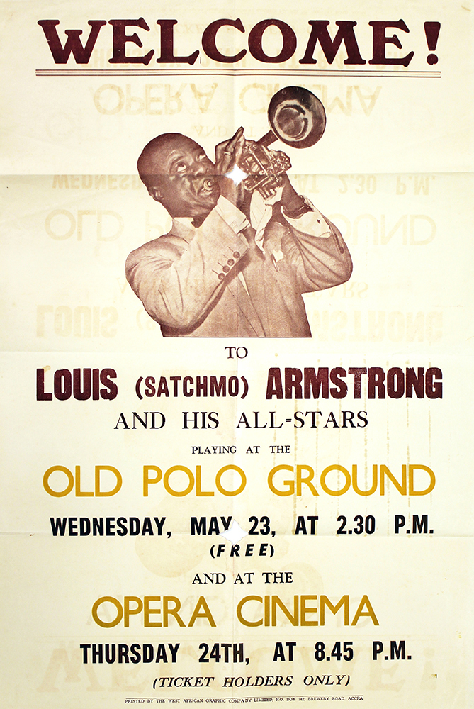 Louis Armstrong Show Poster from Accra, Ghana