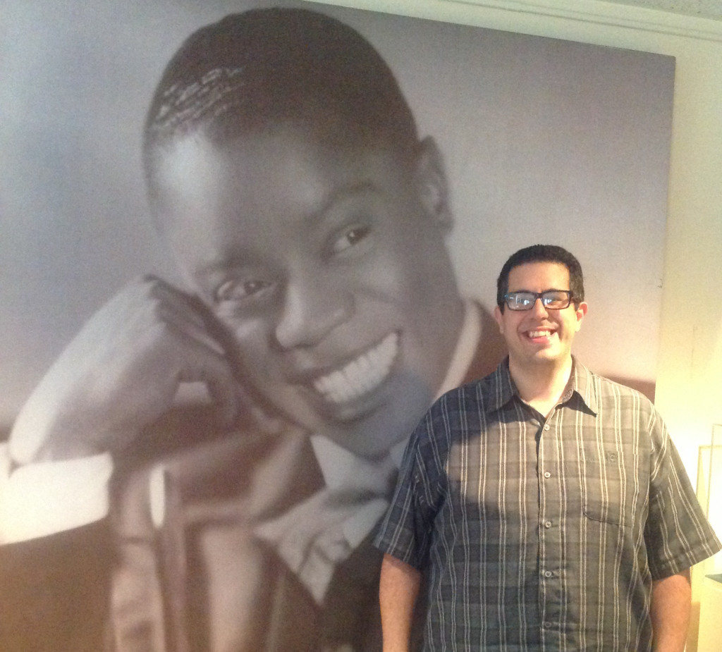 Ricky Riccardi in the Research Collection of the Louis Armstrong House Museum; Photo by Eppie Özen