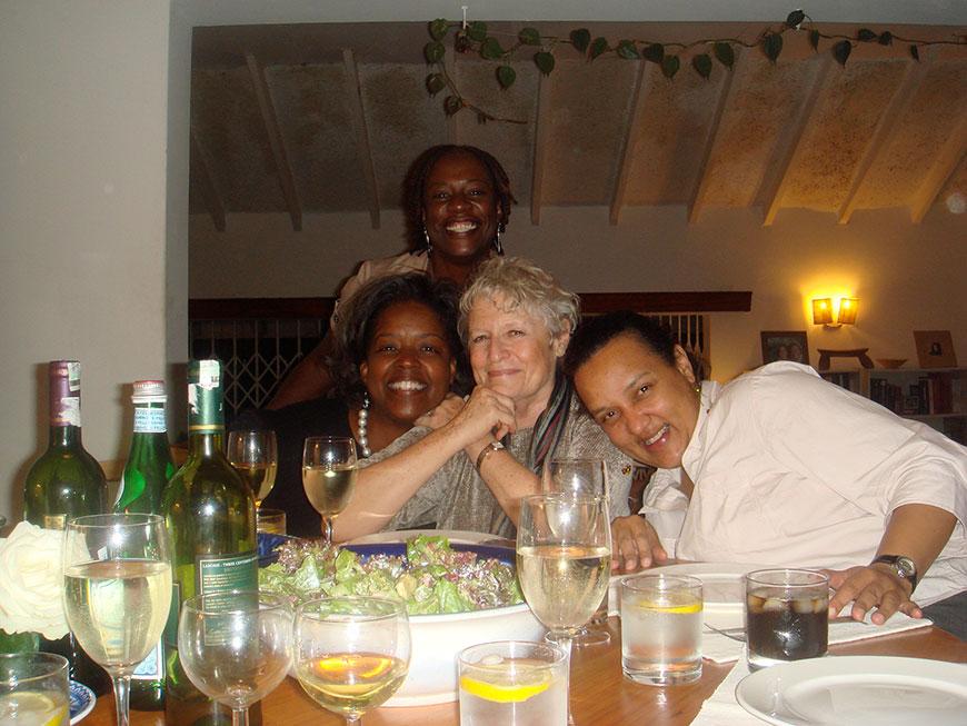 Gwen, Rachel Jones, Susan Linnee, Linda Morgan — Nairobi, 2010