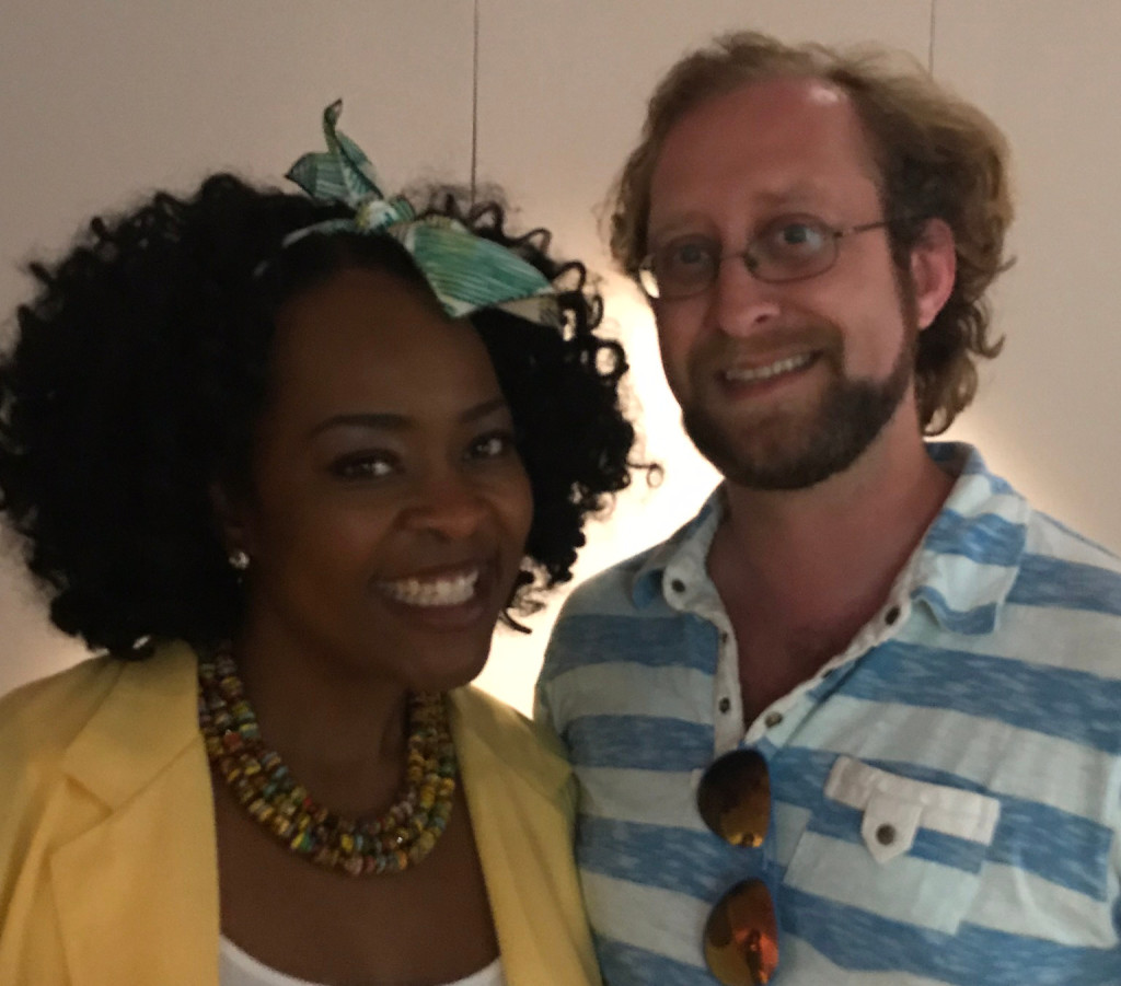 Quiana Lynell and Music Inside Out Producer Garrett Pittman, at Esplanade Studios, New Orleans