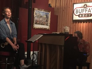 Aurora Nealand and Tom McDermott at Buffa's