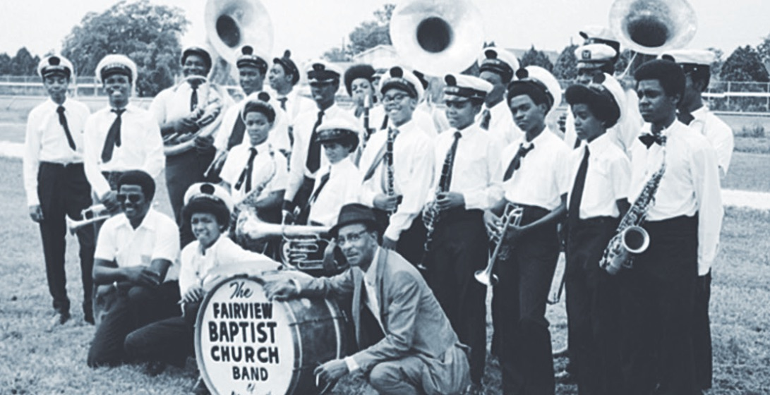 Fairview Baptist Church band in 1974 with Danny Barker.