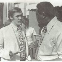 Jason Berry with Charles Evers' (right) 1971 campaign for governor of Mississippi. (Provided photo)
